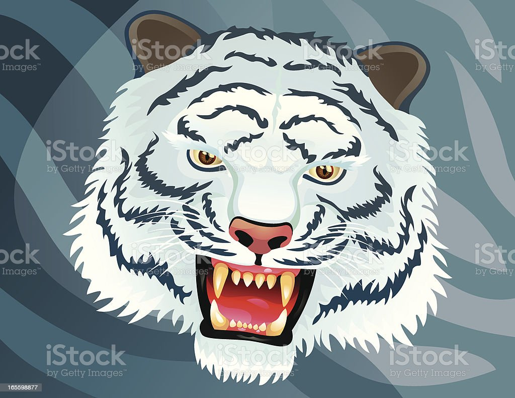 White Tiger royalty-free white tiger stock vector art & more images of animal