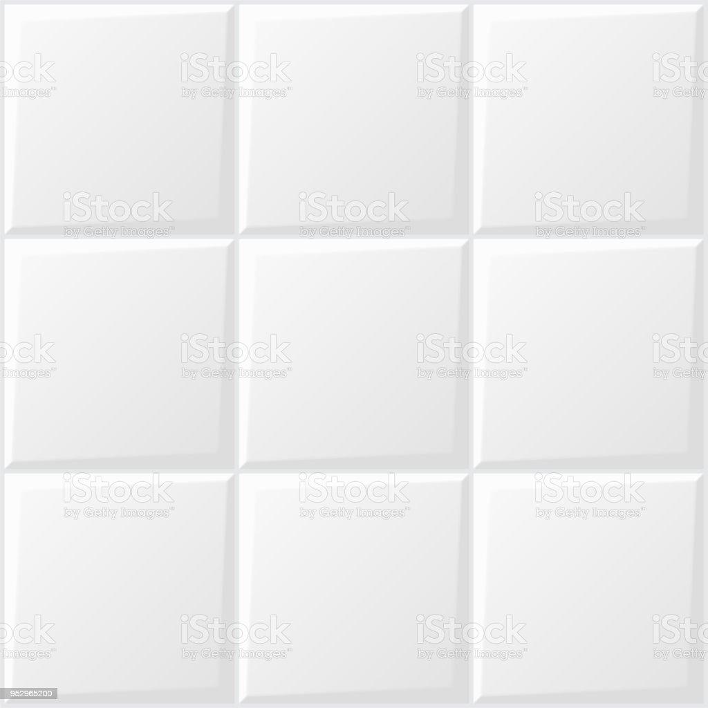 Beliebt Weiße Fliesen Hintergrund Stock Vektor Art und mehr Bilder von AJ78
