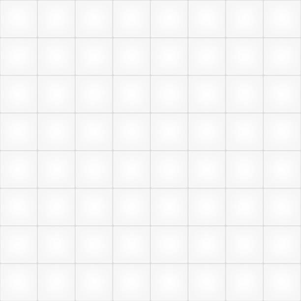 White tile seamless pattern background Vector illustration. bathroom backgrounds stock illustrations