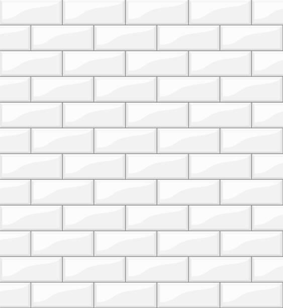 ilustrações de stock, clip art, desenhos animados e ícones de white tiles background for your design, stock vector illustration - azulejo