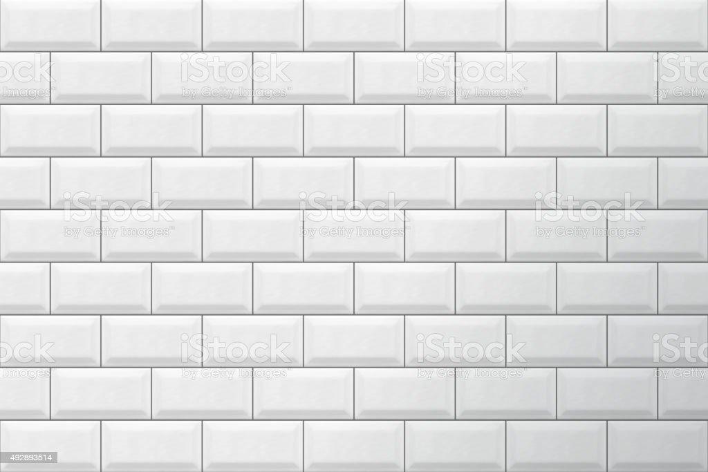 White tiles pattern vector