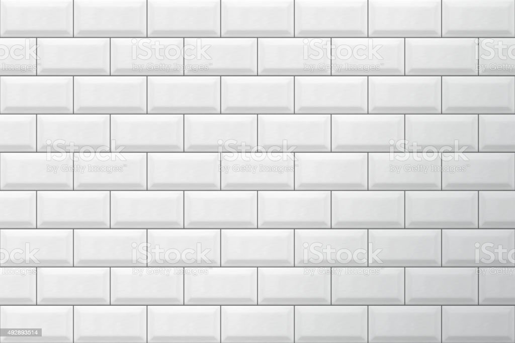 White tiles pattern vector vector art illustration