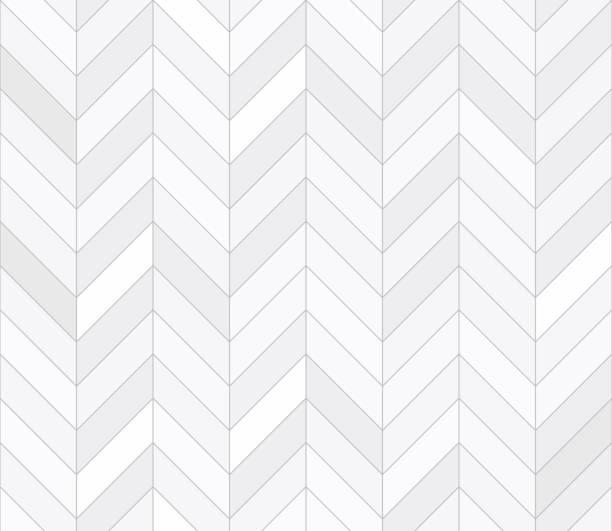 illustrazioni stock, clip art, cartoni animati e icone di tendenza di white tiles, seamless pattern - zigzag