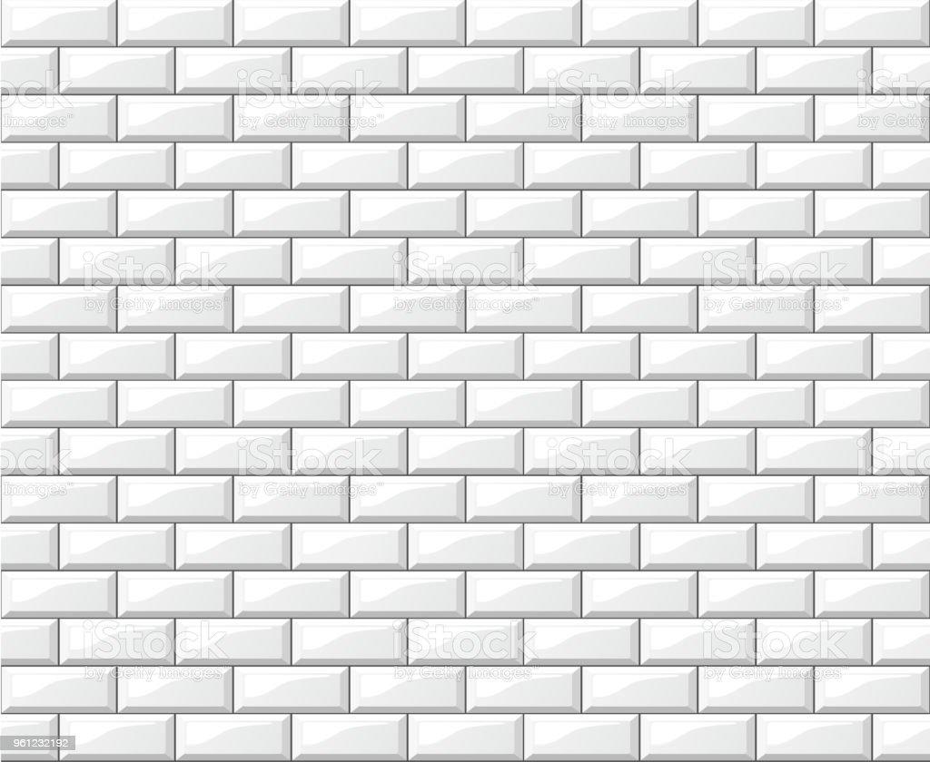 Weiße Fliesen Wandgestaltung Hintergrund Lizenzfreies Weiße Fliesen  Wandgestaltung Hintergrund Stock Vektor Art Und Mehr Bilder Von