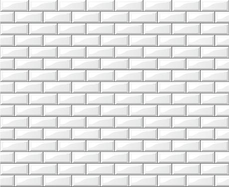 Blanc Carreaux Design Fond Mur Vecteurs libres de droits et plus d'images vectorielles de Abstrait