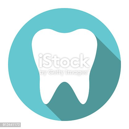 istock White tooth, flat design 912441172