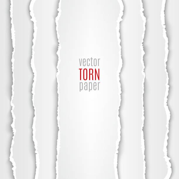 White torn paper vector art illustration