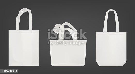 White tote shopping eco bags