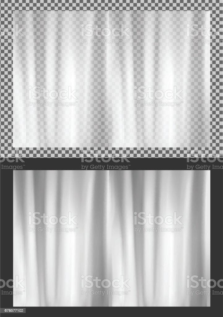 White Transparent Plastic Wrapper Stock Illustration