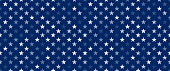 white transparent stars on blue background