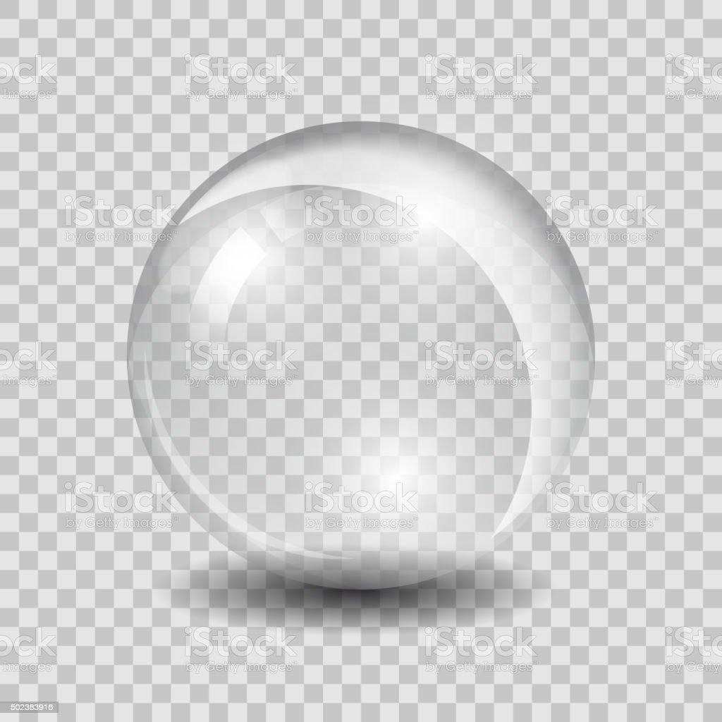 Blanco transparente vector esfera de vidrio - ilustración de arte vectorial