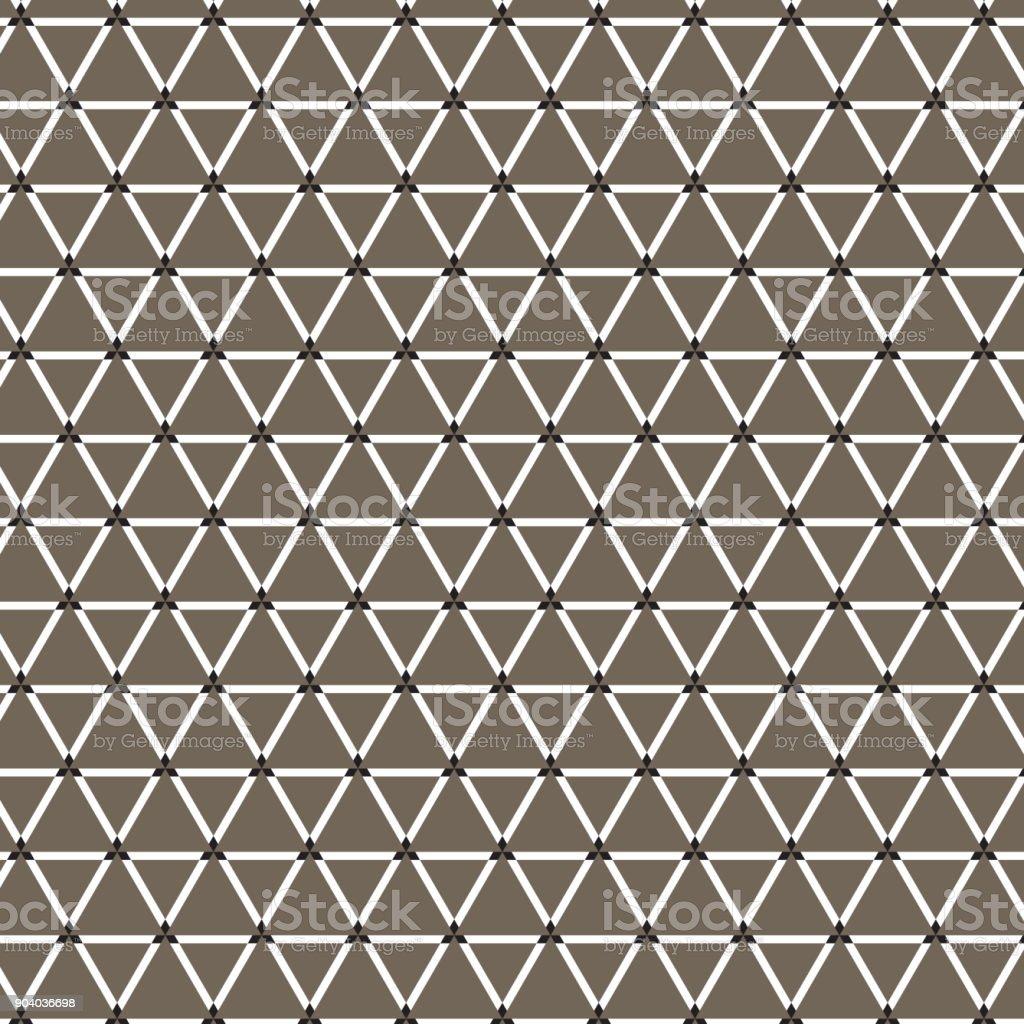weißes Dreieck Muster braunen Hintergrund – Vektorgrafik