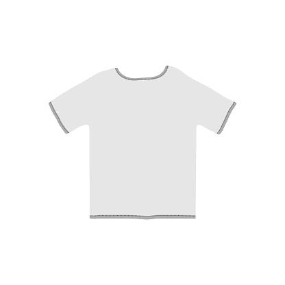White t-shirt icon on a white background.