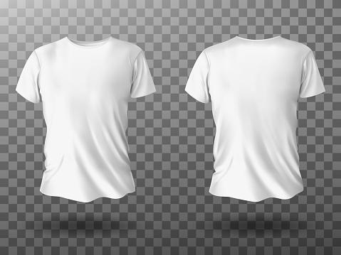 White t-shirt mockup, t shirt with short sleeves