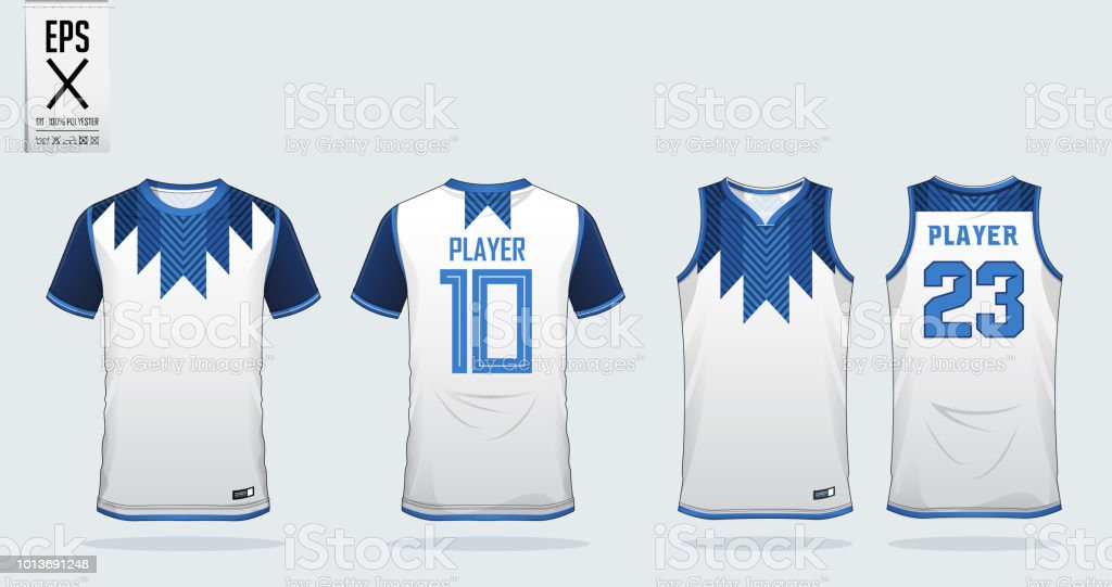 Download White Tshirt Sport Design Template For Soccer Jersey ...