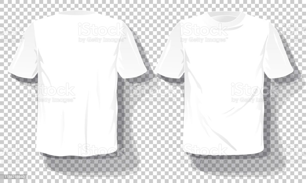 White Tshirts Template Set Isolated Hand Drawn Tee Shirts