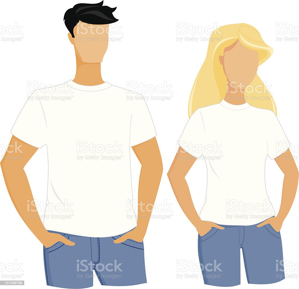 White t-shirts template royalty-free white tshirts template stock vector art & more images of adult