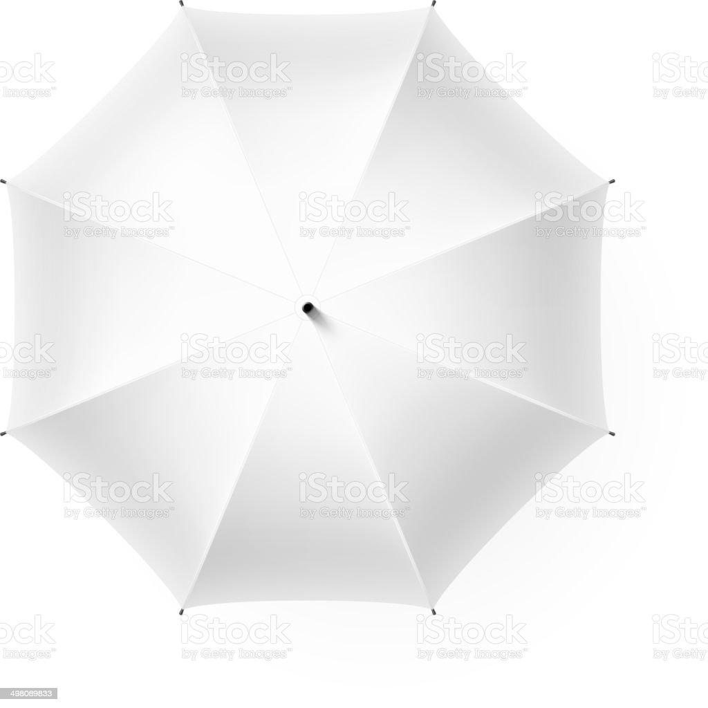 White umbrella vector art illustration