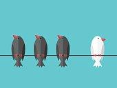 istock White unique independent bird 641735302