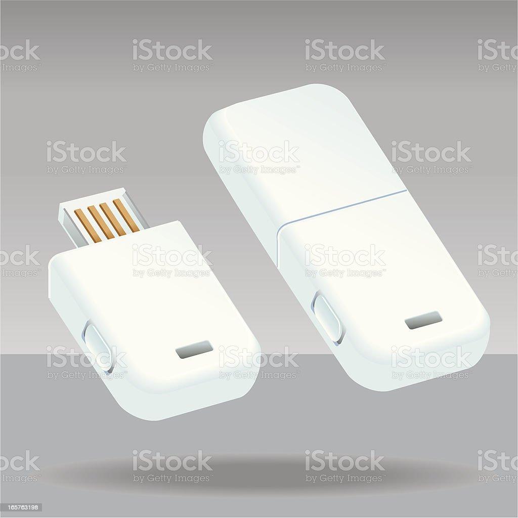 White USB Devices vector art illustration