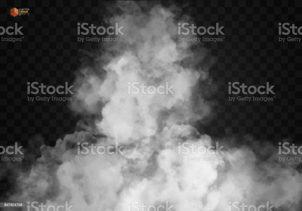 White vector cloudiness, mist or smog background.
