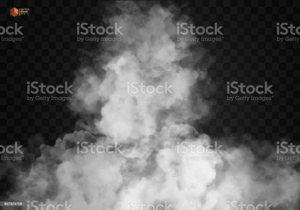 Beyaz vektör yoğunluğunun, sis veya smog arka plan. vektör sanat illüstrasyonu