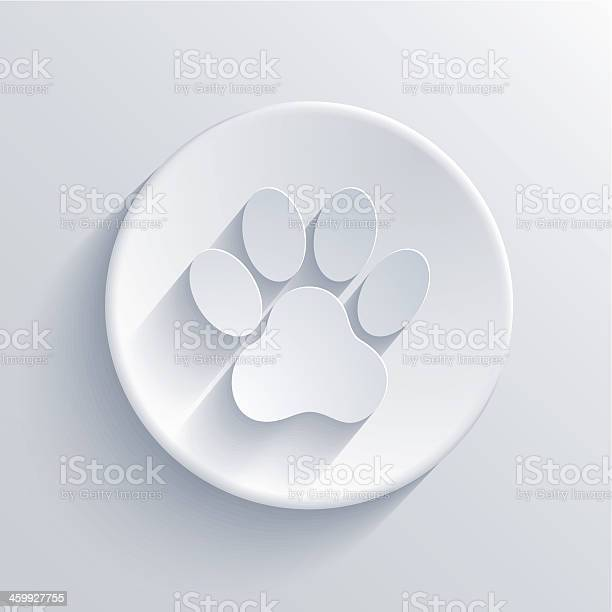 White vector of paw print on circle vector id459927755?b=1&k=6&m=459927755&s=612x612&h=ow31cya9pt5c5v0ak0yl0xebhr3etfurmywjxcq0cie=