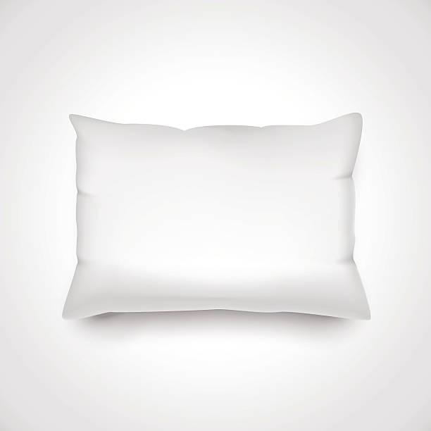 White vector pillow. vector art illustration
