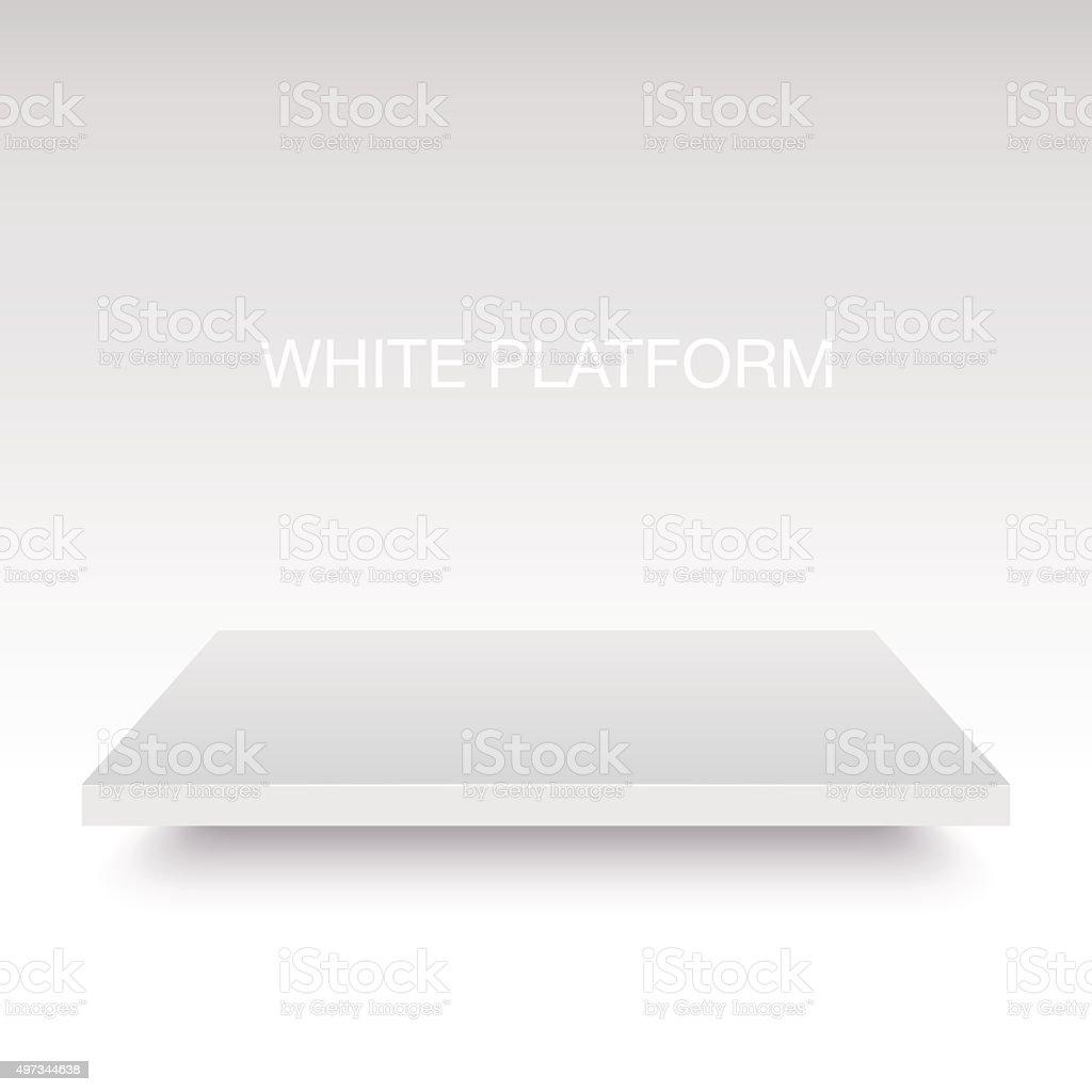 White vector platform stand. vector art illustration