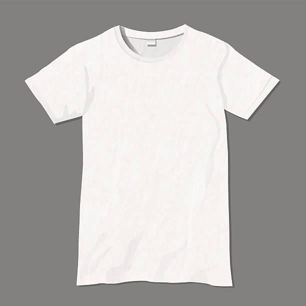 White vector t-shirt design template - ilustración de arte vectorial