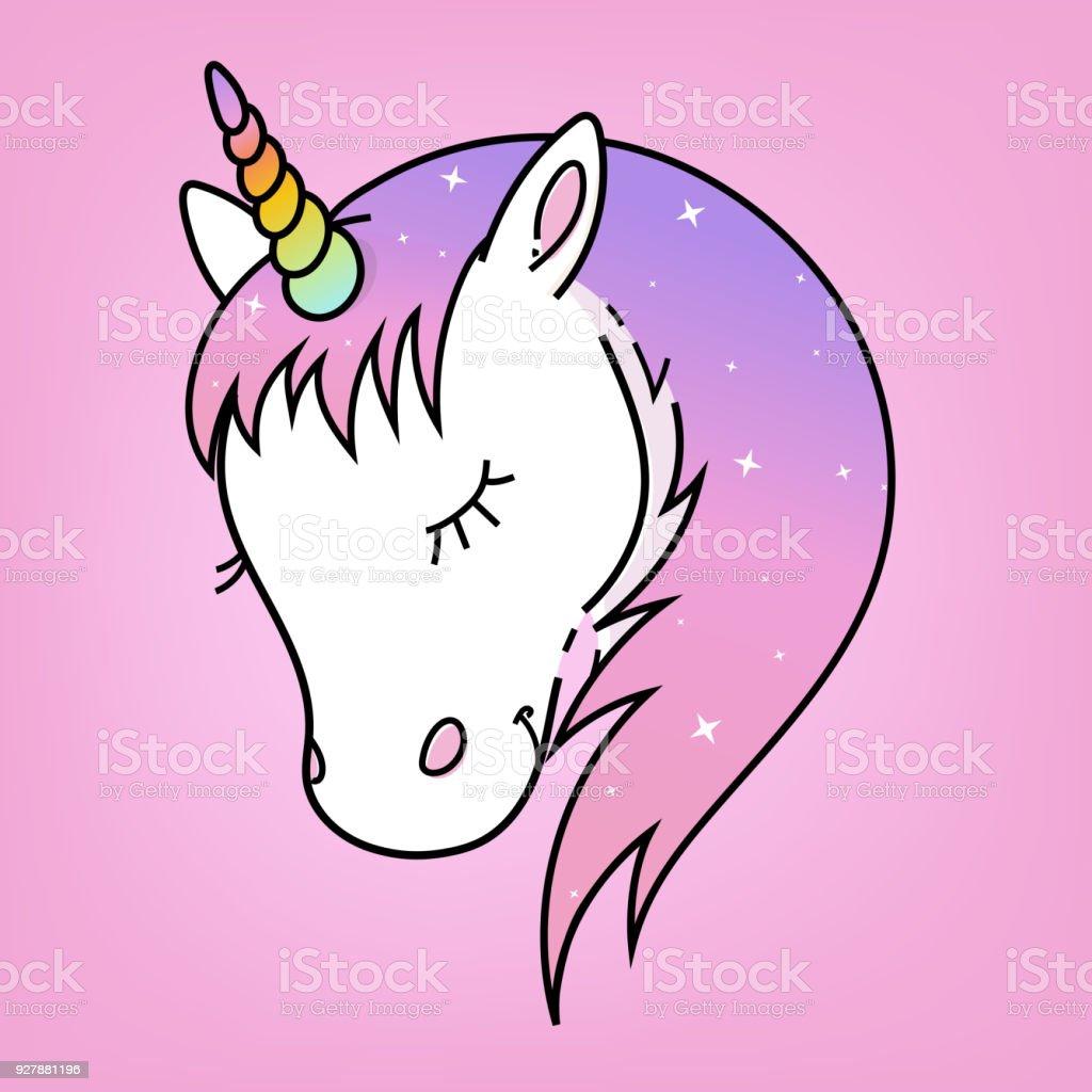 Unicornio blanco vector. ilustración de unicornio blanco vector y más vectores libres de derechos de animal libre de derechos