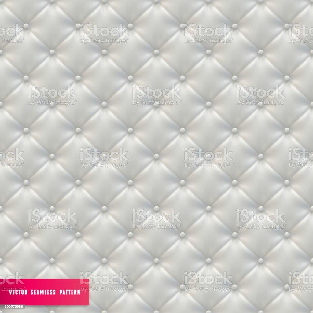 White Vector Upholstery Textured Seamless Background vector art illustration