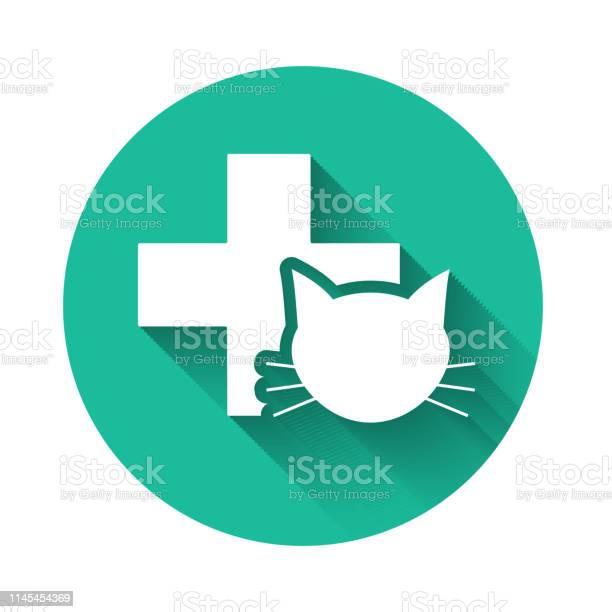 White veterinary clinic symbol icon isolated with long shadow cross vector id1145454369?b=1&k=6&m=1145454369&s=612x612&h= 9dltwt gqu0u8pgo83gmmjfe7nbsciwz19qpfx2apa=