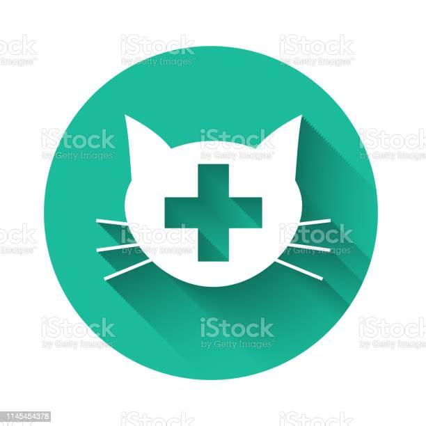 White veterinary clinic symbol icon isolated with long shadow cross vector id1145454378?b=1&k=6&m=1145454378&s=612x612&h=mnnmaoxq27 3bknnm7zu vgznt7q1v8dtjncfonlyeu=
