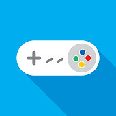 istock White Video Game Controller Icon 1173041055