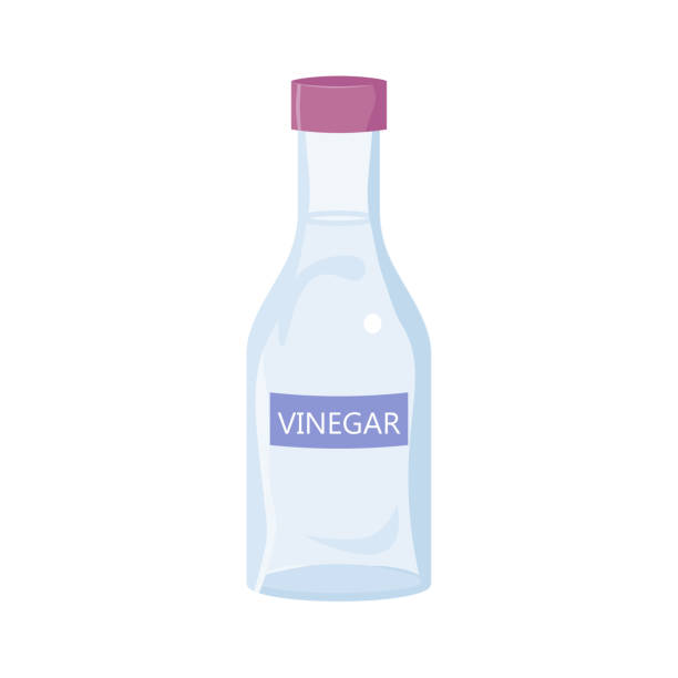 White Vinegar Bottle White Vinegar Bottle. Isolated on white background vinegar stock illustrations