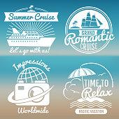 White vintage vacation set - summer travel