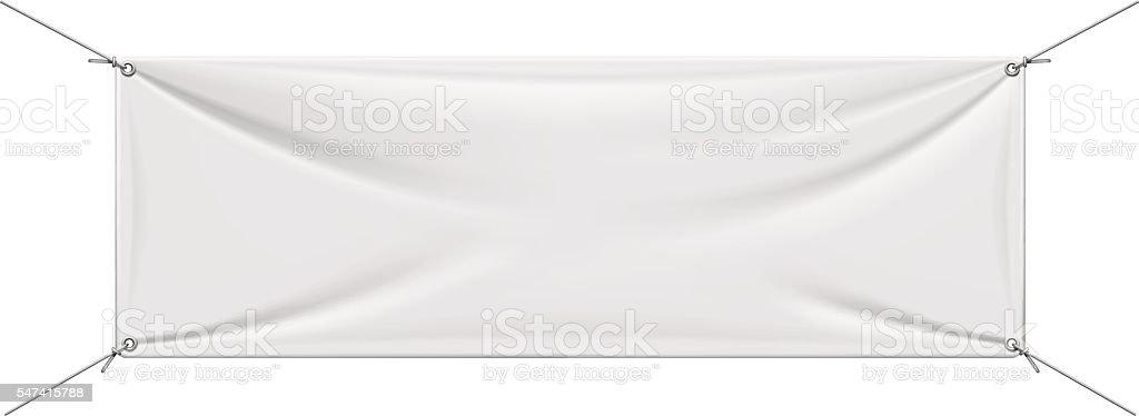 White Vinyl Banner Stock Vector Art More Images Of Advertisement - Blank vinyl banners
