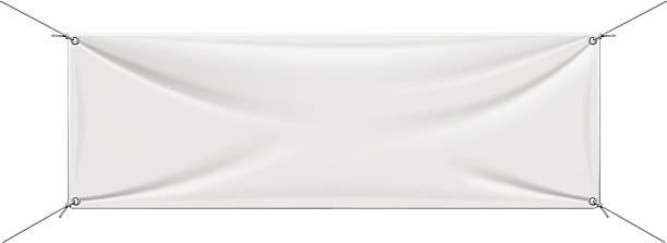 White Vinyl Banner vector art illustration