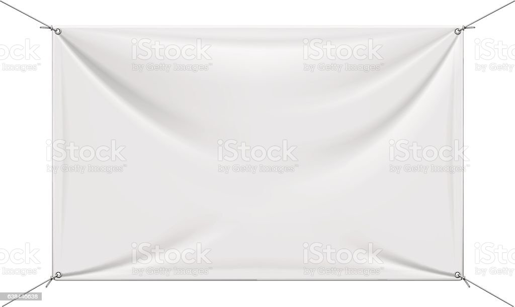 White Vinyl Banner vector art illustration