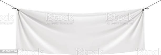 White Vinyl Banner. Vector illustration.