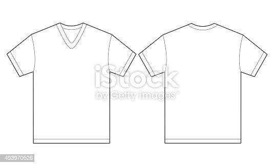 white vneck shirt design template for men stock vector art  u0026 more images of 2015 493970526