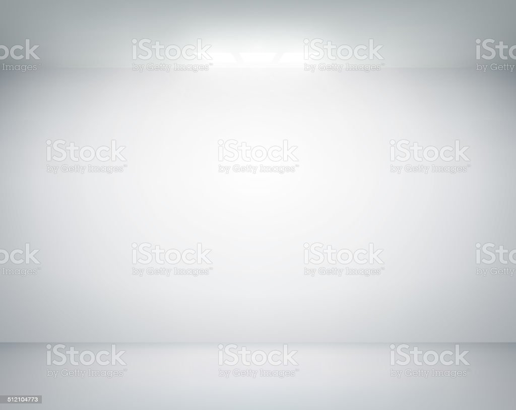 white wall on which shines a flashlight vector art illustration