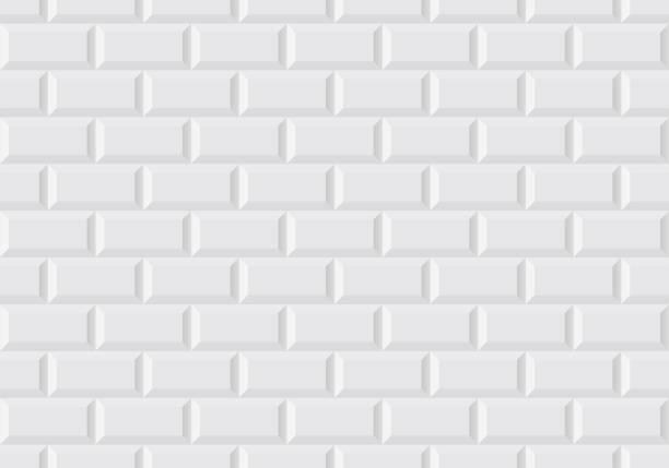 illustrations, cliparts, dessins animés et icônes de tuile de mur blanc comme dans le métro parisien - métro