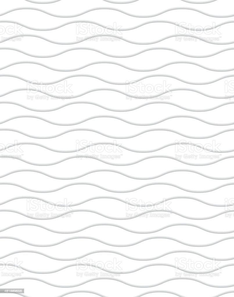 waves02 branco - ilustração de arte em vetor