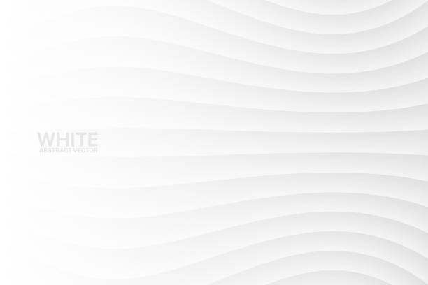 stockillustraties, clipart, cartoons en iconen met witte golvende abstract vector achtergrond - kleurtoon