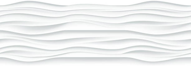 white wavy panel seamless texture background. - tile pattern stock illustrations, clip art, cartoons, & icons