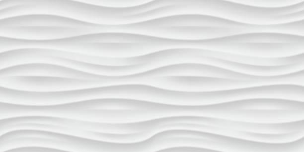 biały falowane panel bezszwowe tekstura tło. - wyrób ceramiczny stock illustrations