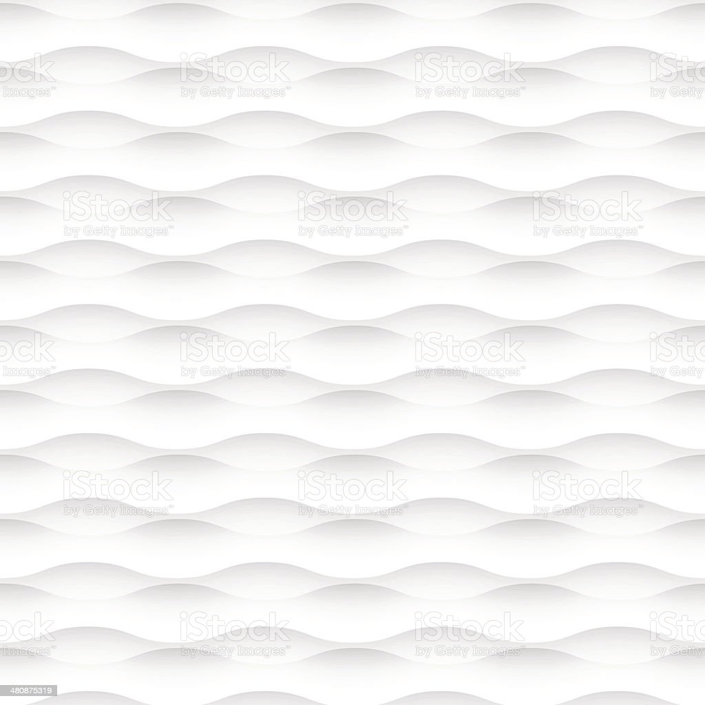 White wavy seamless background vector art illustration