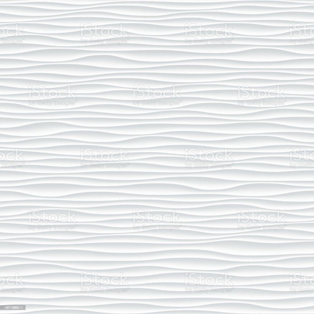 White wavy seamless texture. - Illustration vector art illustration